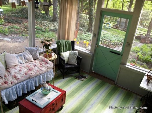 A View From Above Denise S Screened Porch All Set For Spring