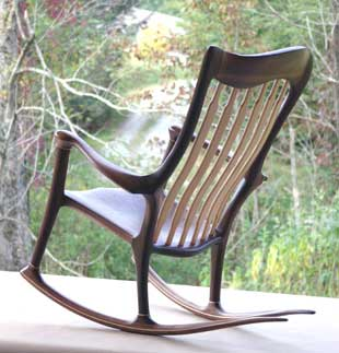 wood rocking chair parts lifeform office hand-crafted | pictures