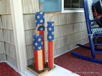 Homemade Firecracker Decorations Light Up Your Front Porch