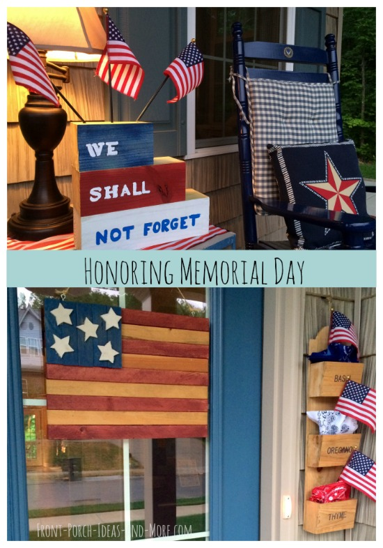 Porch Decorating for Memorial Day