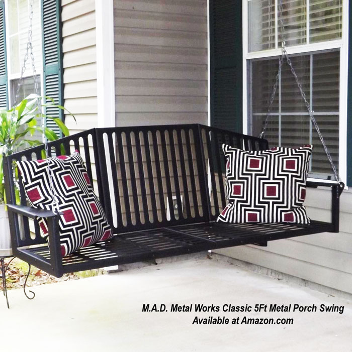 Metal Porch Swing Options For Outdoor Living - Vintage Metal Patio Furniture