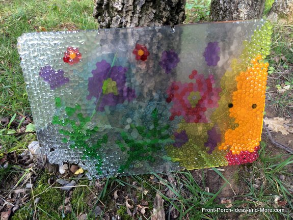 Cool Garden Art That Looks Like Stained Glass