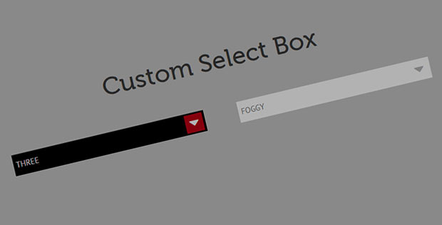 Custom Select Box Tutorial using CSS and jQuery