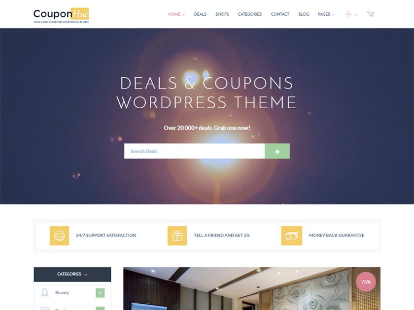 CouponHut Affiliate WordPress Theme by Subsolar Designs