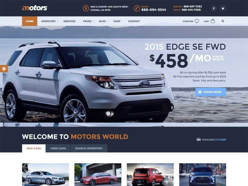 Motors Affiliate WordPress Theme by Stylemix Themes