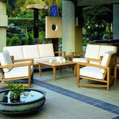 Kingsley Bate Amalfi Club Chair Waterproof Dining Room Covers Teak 7 Piece Deep Seating Ensemble