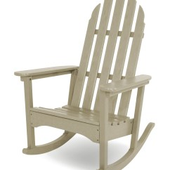 Trex Adirondack Rocking Chairs Office Chair Height Extender Polywood Classic Rocker