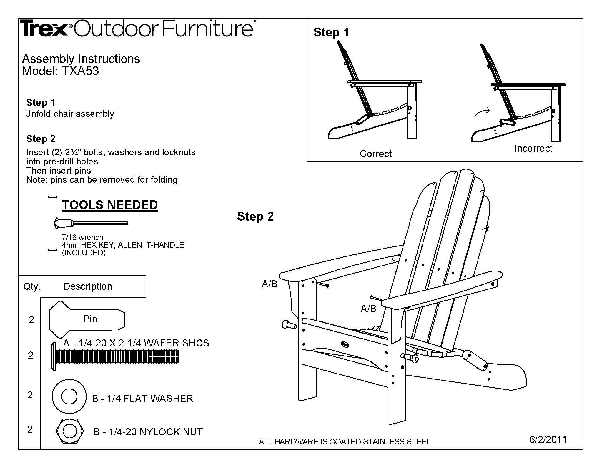 Trex Outdoor Furniture Cape Cod Folding Adirondack Chair