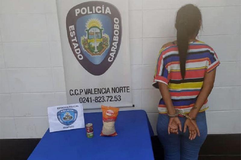 Policía de Carabobo mujer detenida