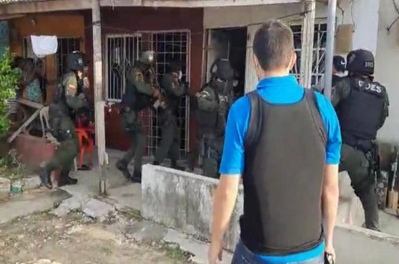 operativo Policía Colombia