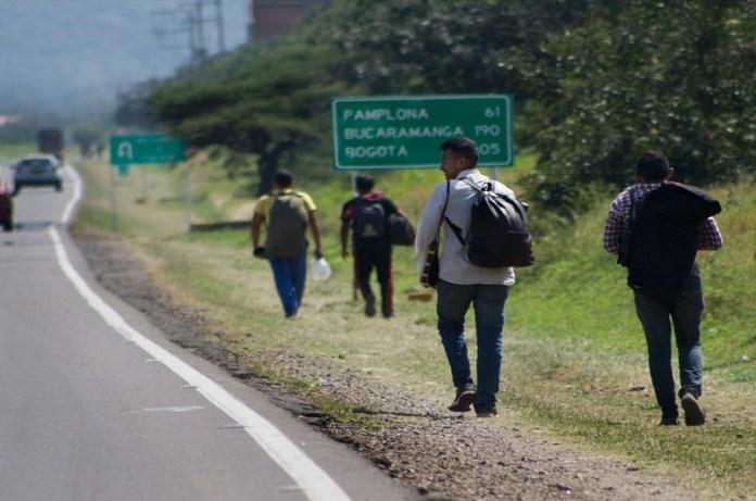caminantes venezolanos Colombia