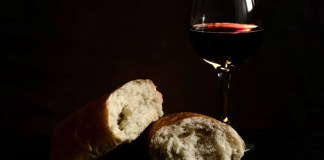 banquete pan y vino