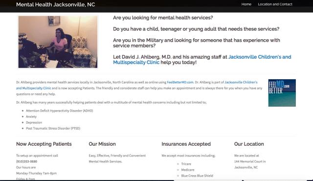 MentalHealthJacksonvilleNC.com
