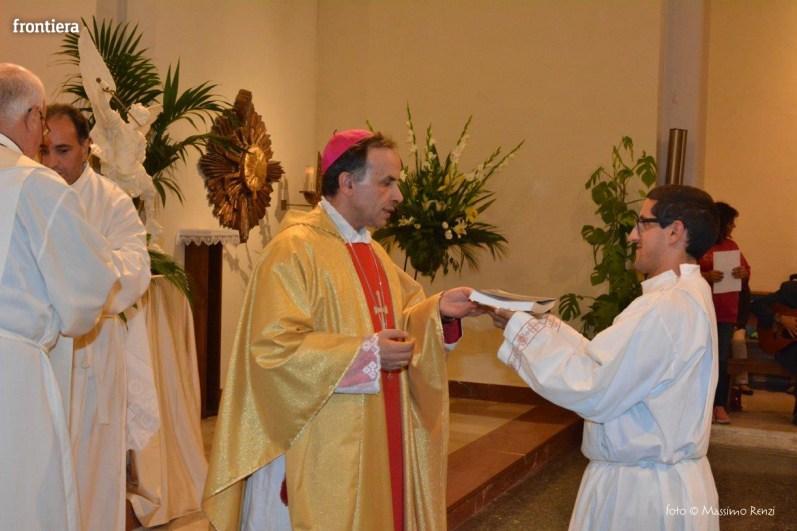 Mons Domenico Pompili a San Michele Arcangelo (Messa) 29 settembe 2015 foto Massimo Renzi 12