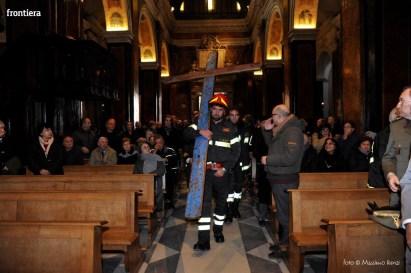 Santa Barbara nel Mondo Messa 4 dicembre vigili del fuoco foto Massimo Renzi 05
