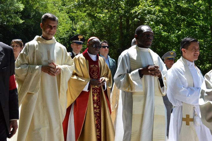 DSC_0057 - Il Parroco don Jarek in processione con il cardinale
