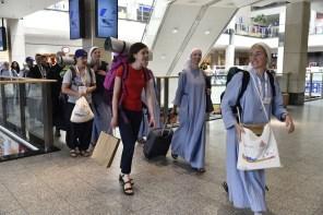Cracovia 24-7-2016 Giornata Mondiale della Gioventù a Cracovia. I giovani pellegrini arrivano in città.