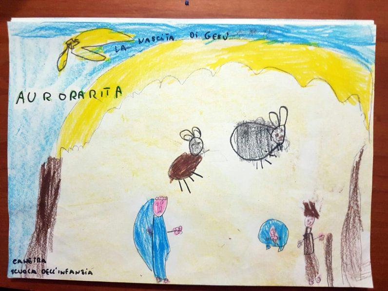 Il presepe di Francesco - Bambini della Scuola per l'infanzia di Canetra 01