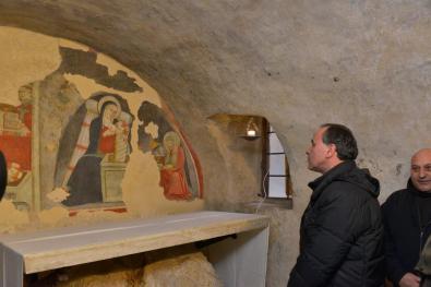 Inaugurazione Affresco Restaurato Greccio Grotta Presepe [16.12.2016] foto Massimo Renzi 19
