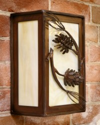 Pine Cone and Branch Wall Sconce  Frontier Iron Works