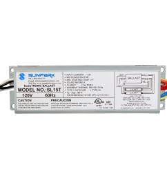 sl15t sunpark replacement ballast electronic fluorescent ballast for multiple cfl and linear fluorescent lamps [ 1000 x 1000 Pixel ]