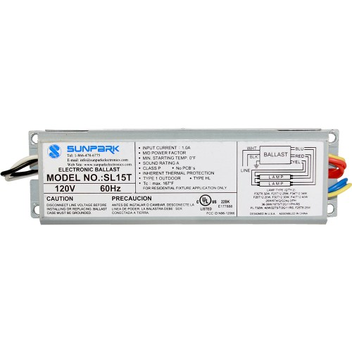 small resolution of sl15t sunpark replacement ballast electronic fluorescent ballast for multiple cfl and linear fluorescent lamps