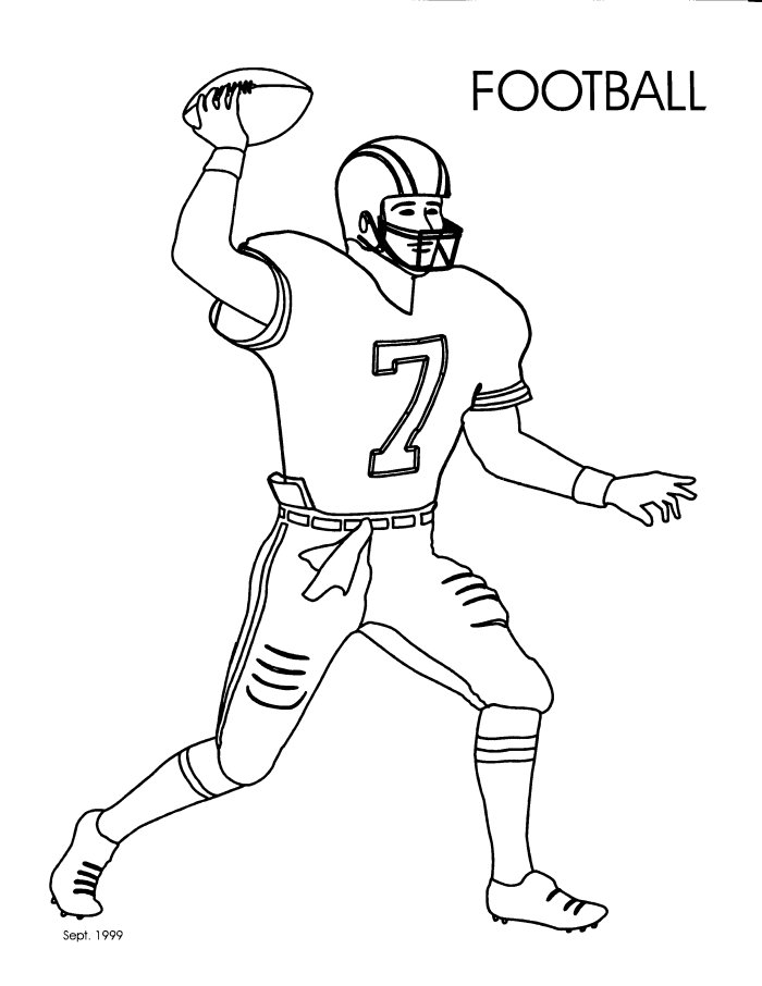 COLORING COM NFL PAGE « Free Coloring Pages
