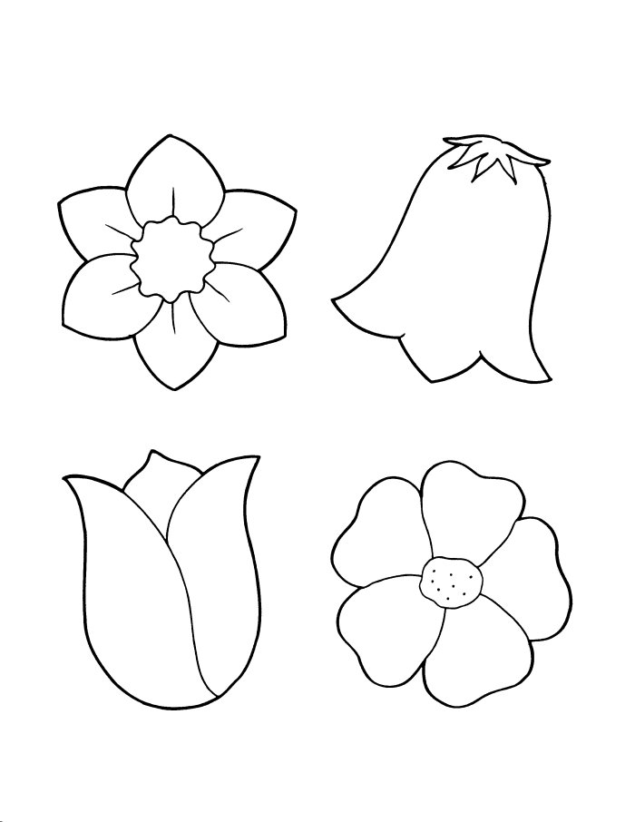 Spring Flower Coloring Pages for Kids