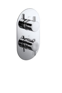Evoke Twin Concealed Thermostatic Shower Valve with ...