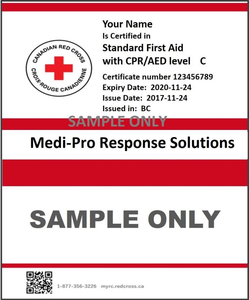 Lost Cpr Certification Card Red Cross Dedicard