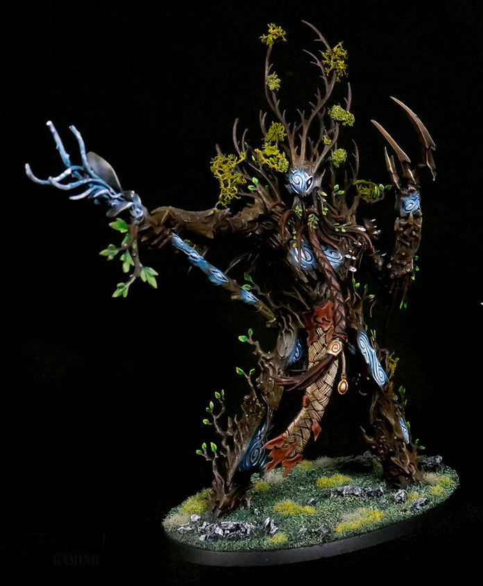Completed Commission: Sylvaneth Treelord Ancients   Frontline Gaming