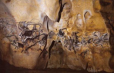 岩洞內其中一部份的璧畫