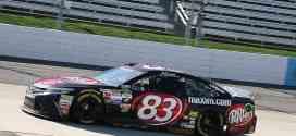 Matt Dibenedetto on track durng practice at Martinsville Speedway.