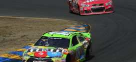 Kyle Busch leads his brother Kurt in the Toyota/SaveMart 350 at Sonoma Raceway