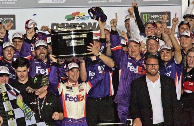 Denny Hamlin Wins Chaotic Daytona 500