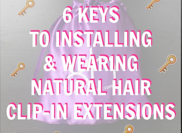 installing natural hair clip-ins in natural hair