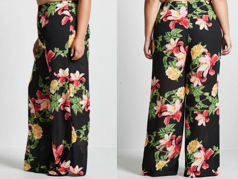 PLUS SIZE FLORAL PANTS TO TRY