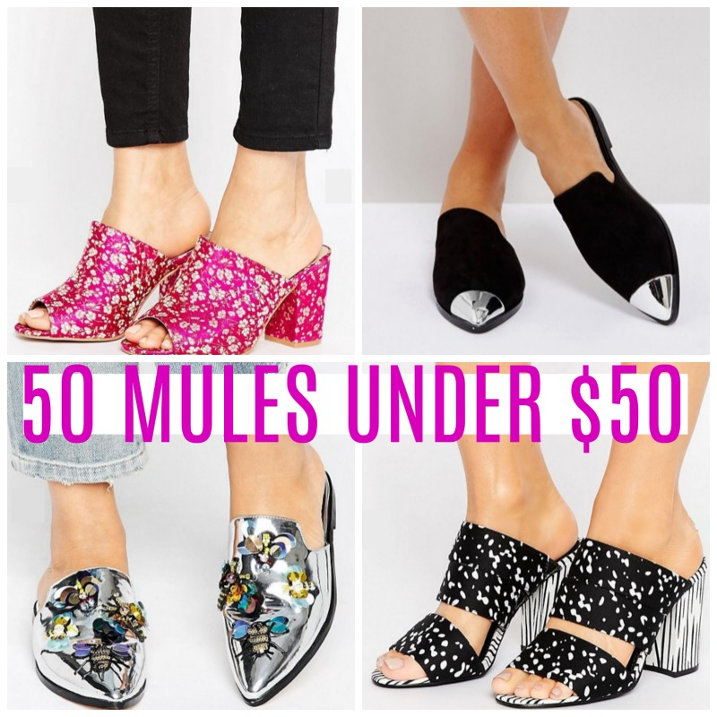 mules for fall under $50