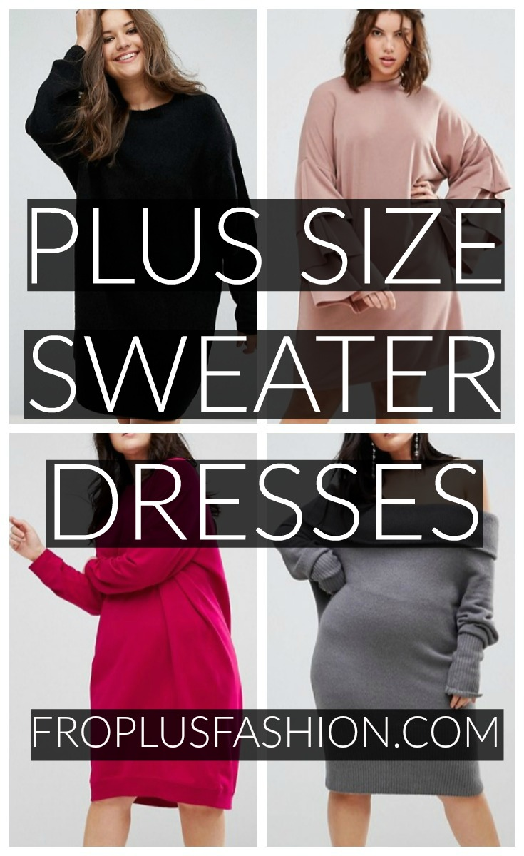 Pin Plus Size Sweater Dresses