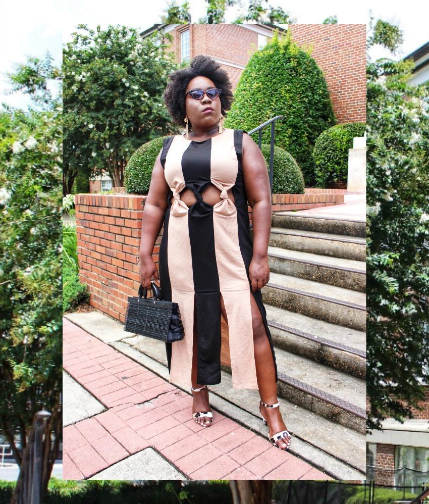 d554d292acbfd Plus Size Summer Dress High Slit