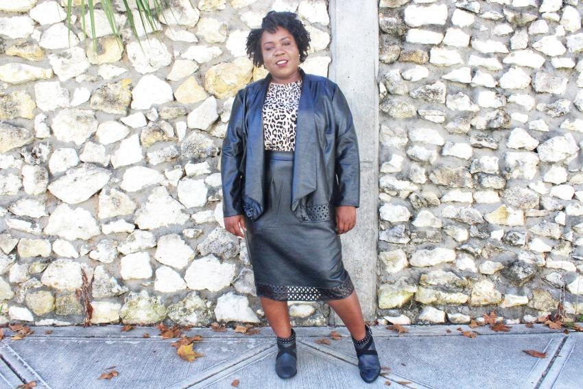 Plus Size Leather Skirt | FRO PLUS FASHION