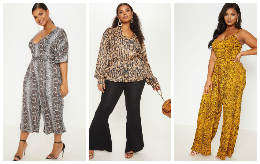 133b128b161ad PrettyLittleThing has quite a few plus size snake print pieces to choose  from in so many different styles and colors. I need these pieces in my  wardrobe ...