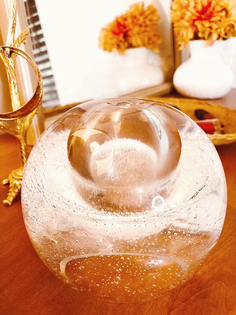 Mystery Glass Orb Decor