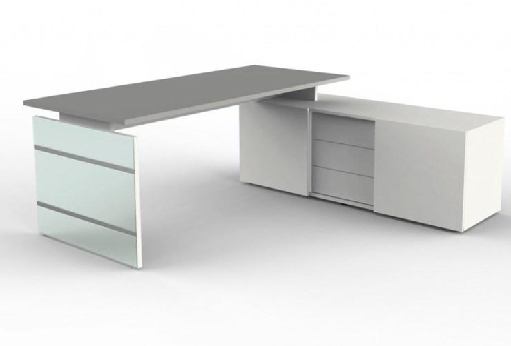 Schreibtisch Winkelkombination Weiß 2021
