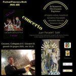 Ceccano, l'organista papale della Cappella Sistina, Juan Paradell Solé, per il Festival Francesco Alviti, all'antico organo Catarinozzi, giovedì 24 giugno, ore 19,15 in S. Giovanni.