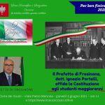 Liceo Ceccano – Festa della Repubblica, il prefetto Portelli affida la Costituzione ai ragazzi diventati maggiorenni, 3 giugno 2021, ore 11.
