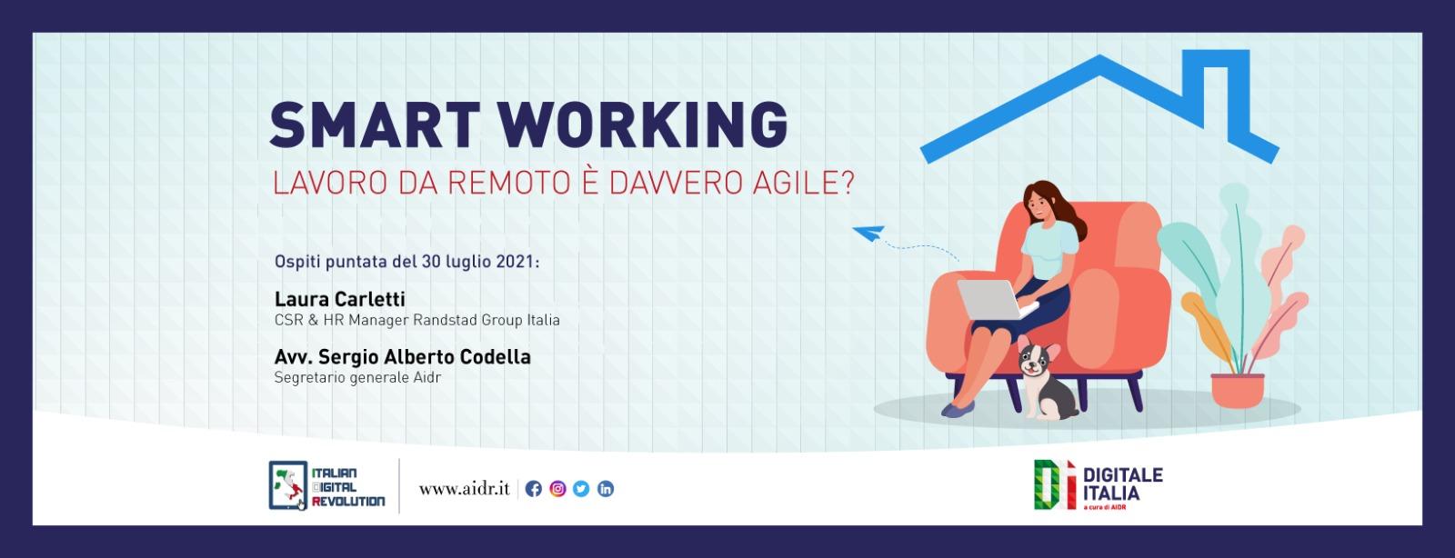 Lo smart working post pandemia, approfondimento a Digitale Italia.