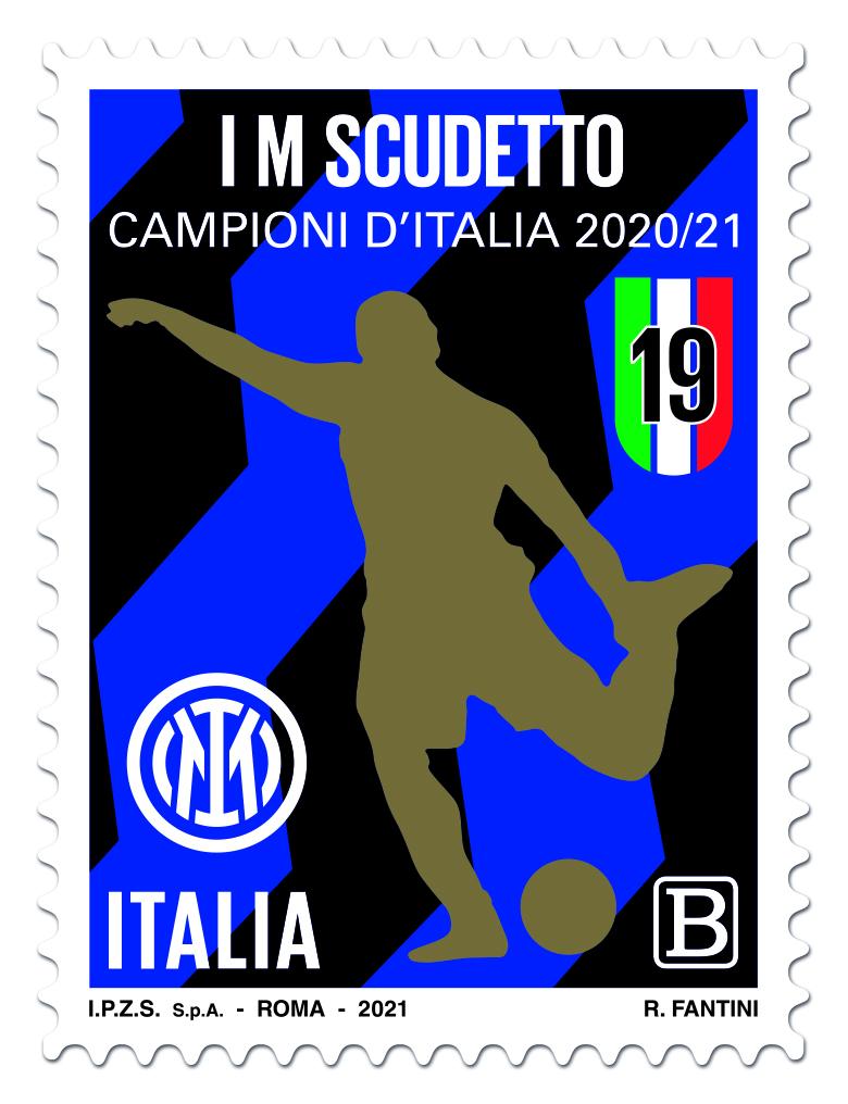 Emissione francobollo Squadra vincitrice Campionato calcio serie A.