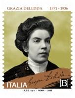 Emissione francobollo Grazia Deledda.