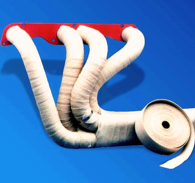 exhaust insulation wrap kit inc exhaust wrap and clips